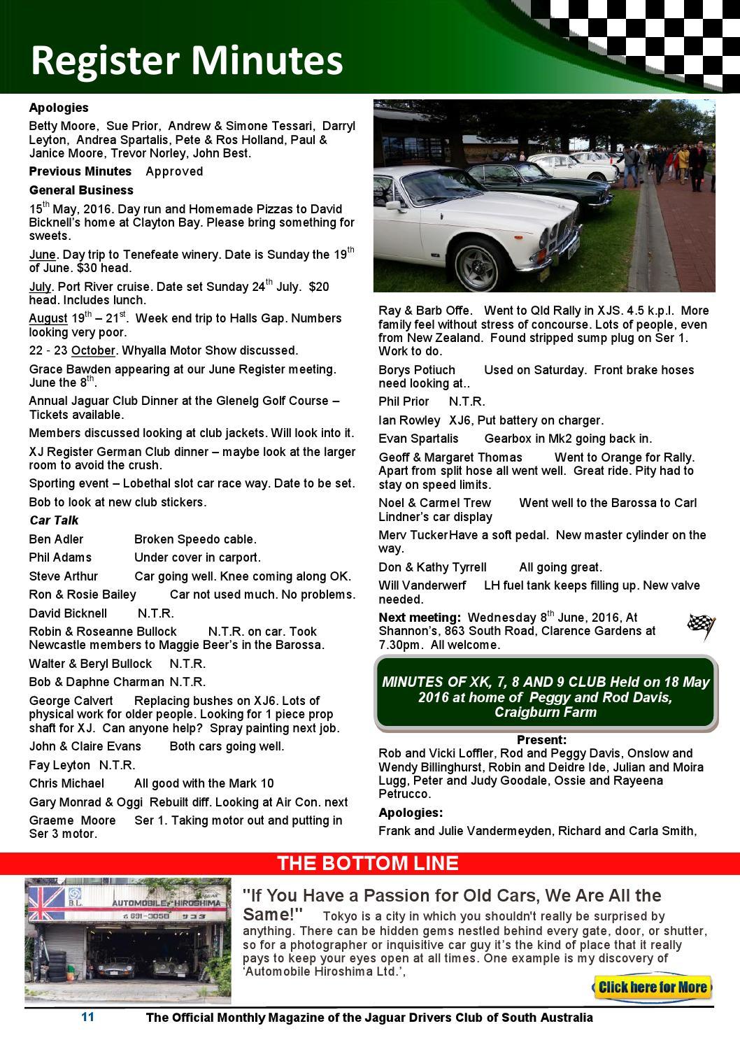Classic marque june 2016 web by Jaguar Drivers Club of SA