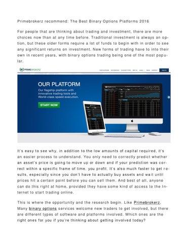 Binary options n platforms