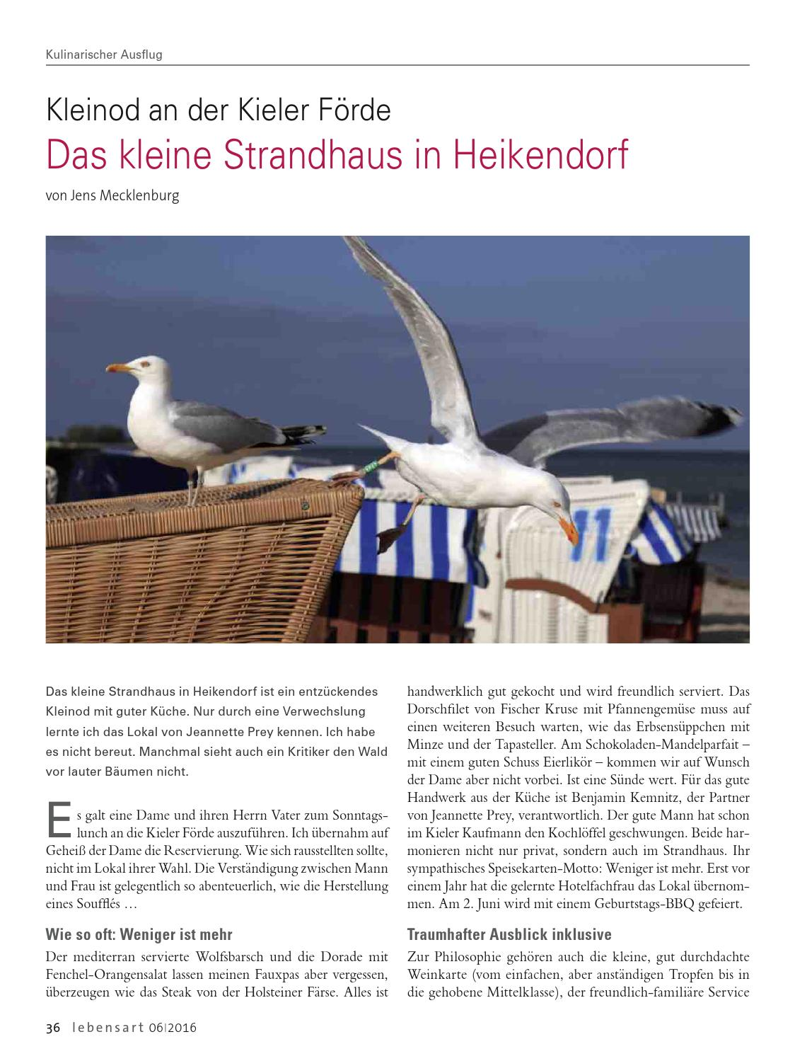 Lebensart im Norden, Kiel & Umgebung, Juni 2016 by Verlagskontor ...