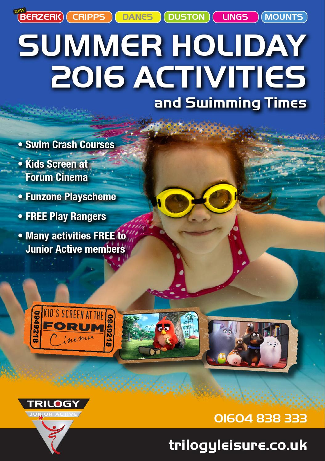 Summer Holiday Activities 2016 By Northampton Leisure Trust Issuu