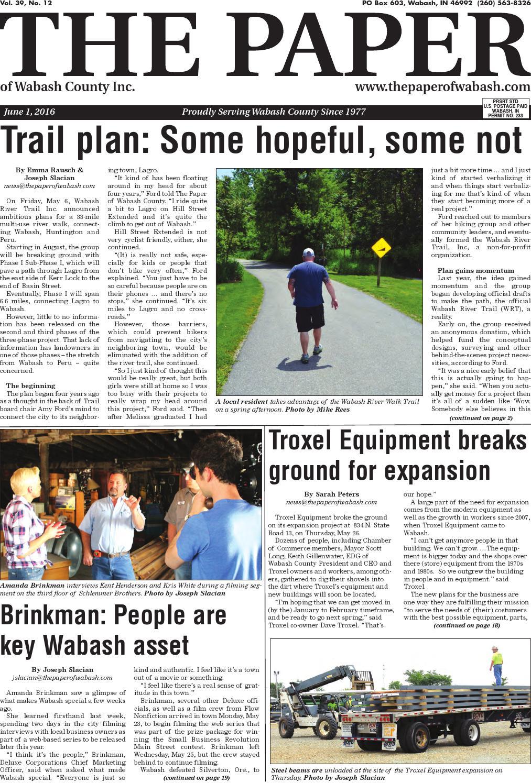 Indiana wabash county lagro - The Paper Of Wabash County June 2 2016 Issue By The Paper Of Wabash County Issuu