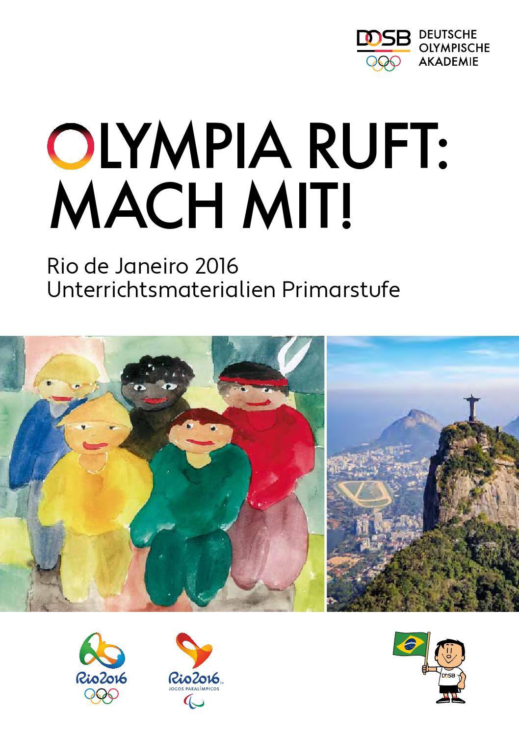 "Olympia ruft: Mach mit!"" Rio de Janeiro 2016 ..."
