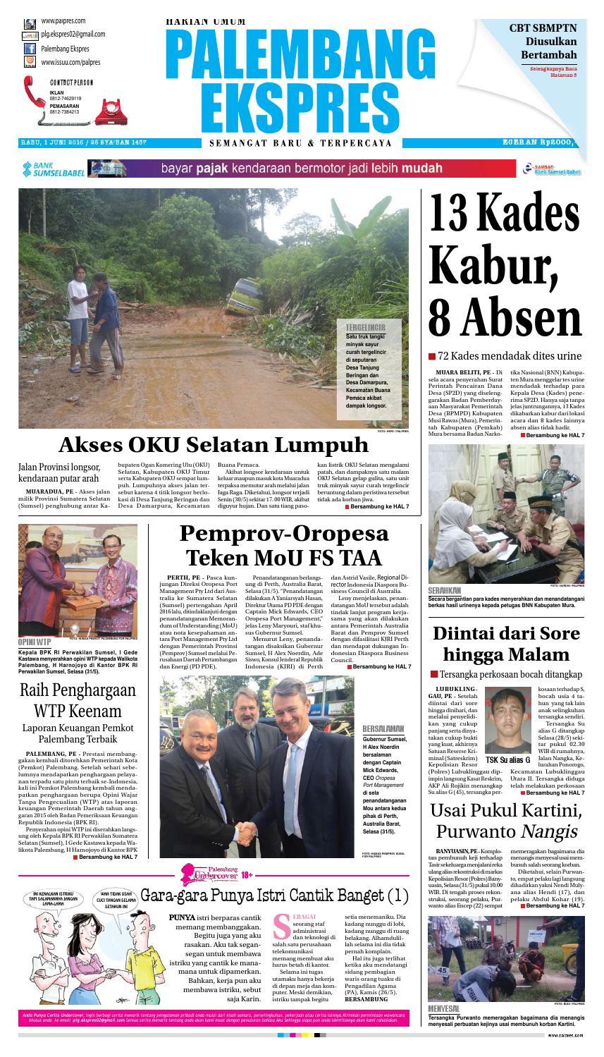Palembang Ekspres Rabu 1 Juni 2016 By Palembang Ekspres Issuu