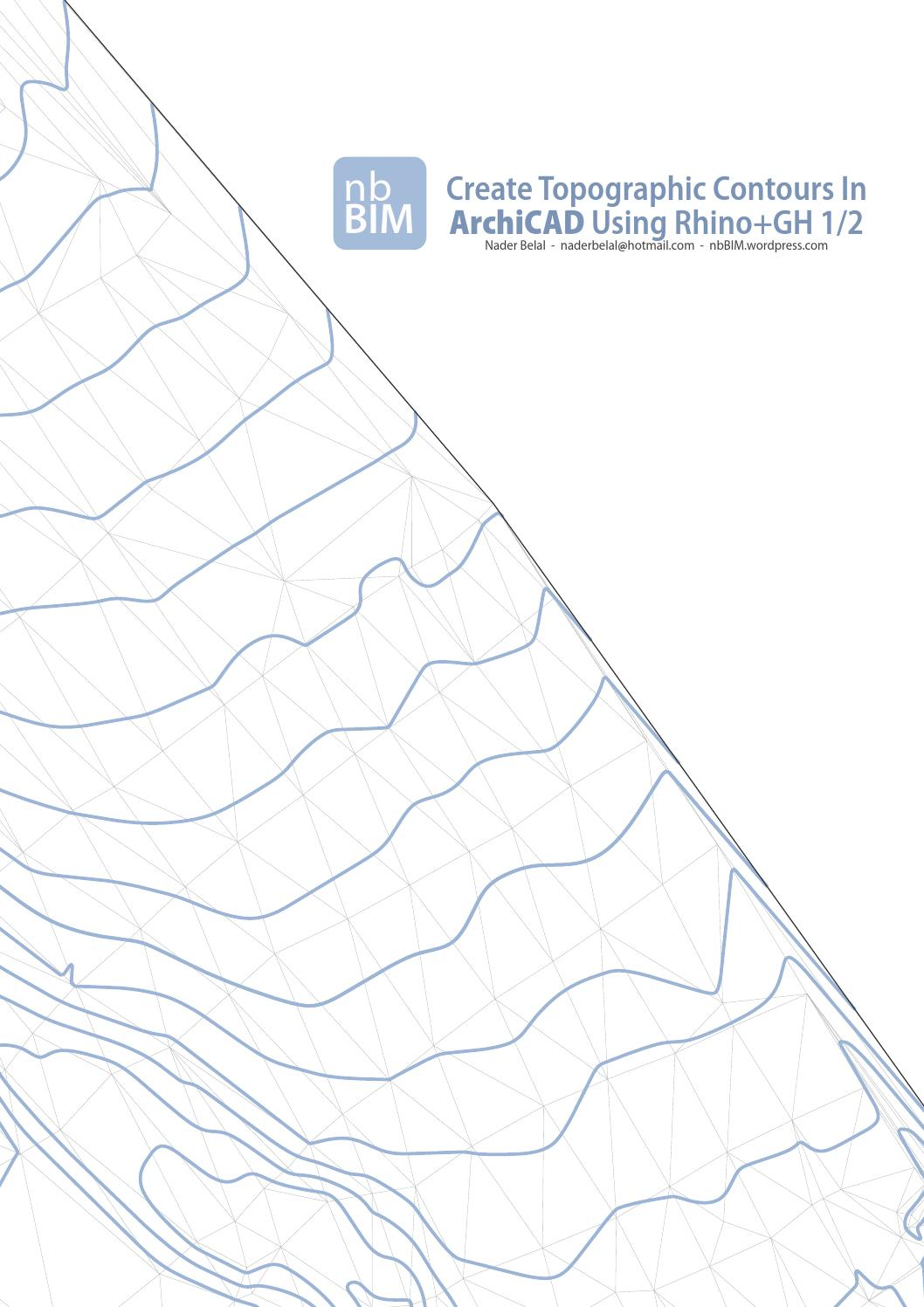 Create Topographic Contours In Archicad Using Rhino+Gh 1/2 by nbBIM