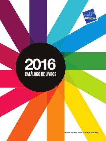 a1525b579b0 Catálogo de Livros - Grupo Editorial Summus - 2016 by Grupo ...