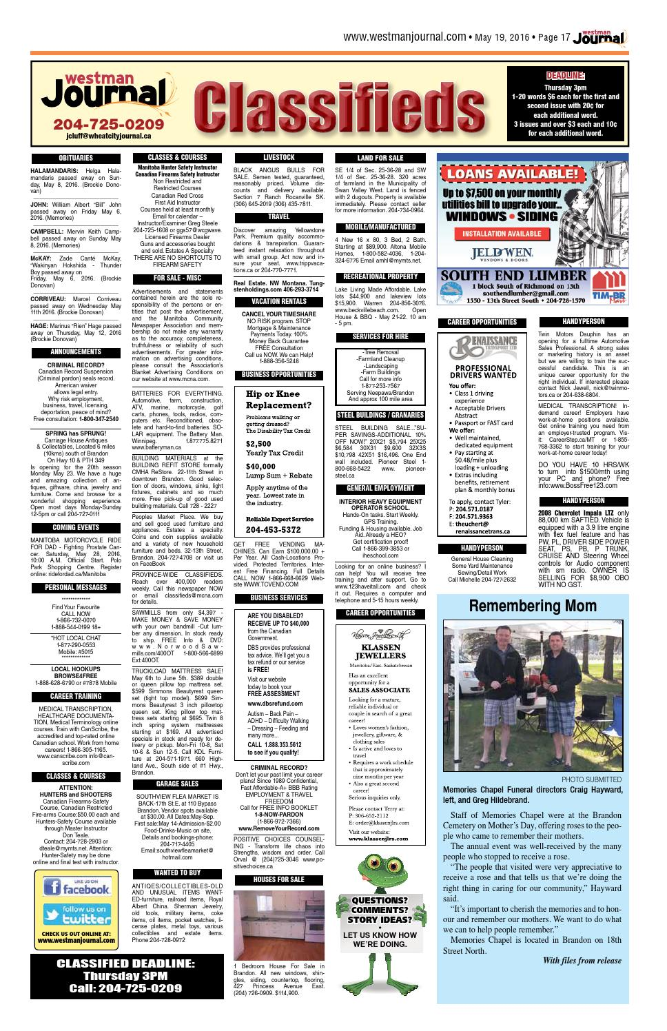 Westman Journal - May 19, 2016 by Westman Journal - issuu