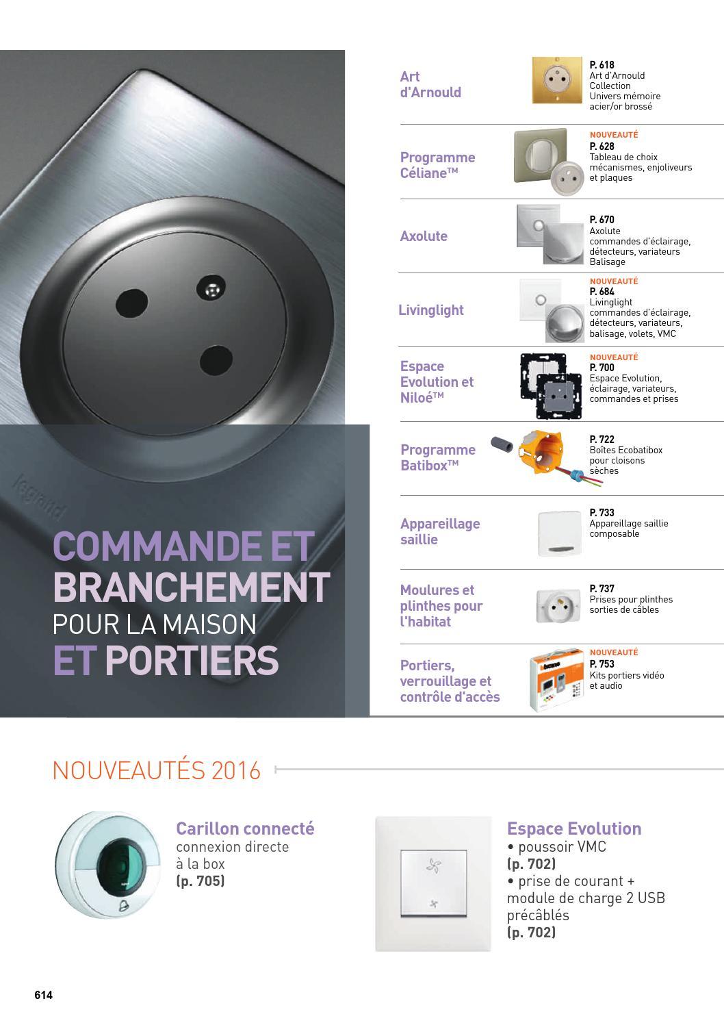 Diametre Scie Cloche Prise De Courant legrand commandes & branchement pour la maison et portiers