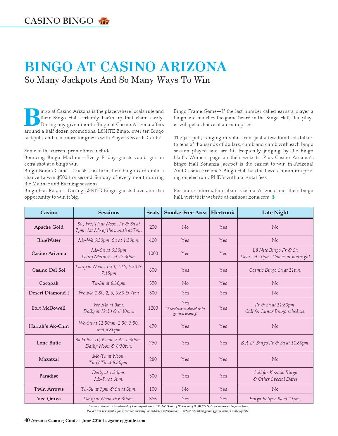 casino arizona bingo winner