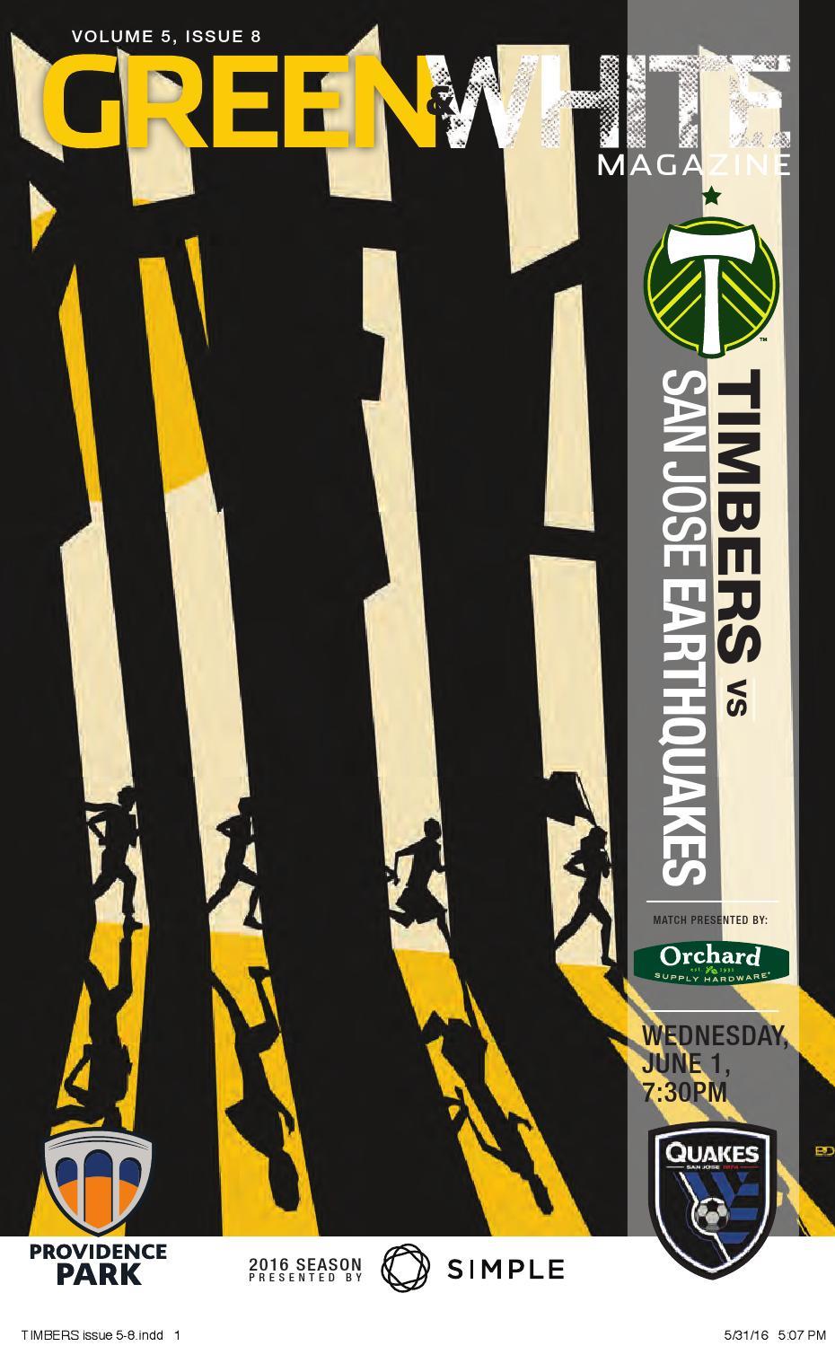 Captain Jack Lounge Stoel.Green White Magazine Portland Timbers Vs San Jose Earthquakes