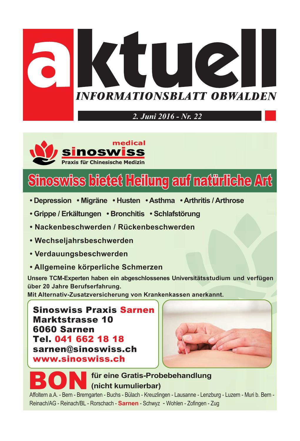 Aktuell Obwalden 22-2016 by Aktuell Obwalden AG - issuu