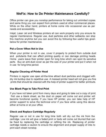 How to do Printer Maintenance Carefully by Wefix Epson - issuu