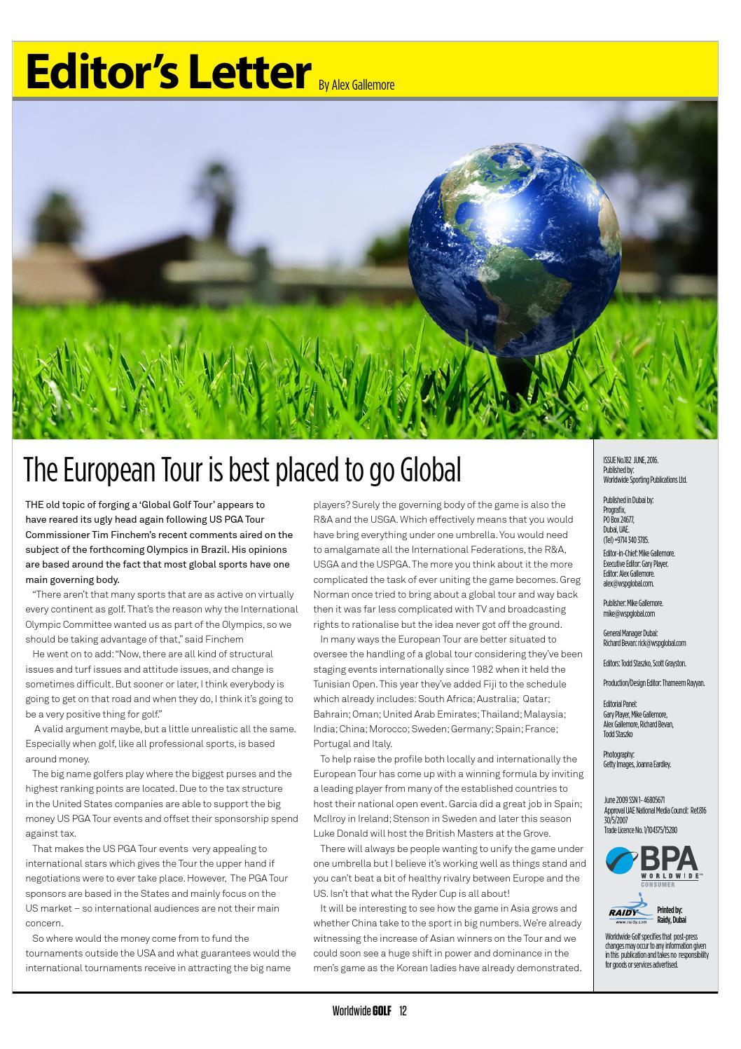 Worldwide Golf June 2016 by WSP Global - issuu