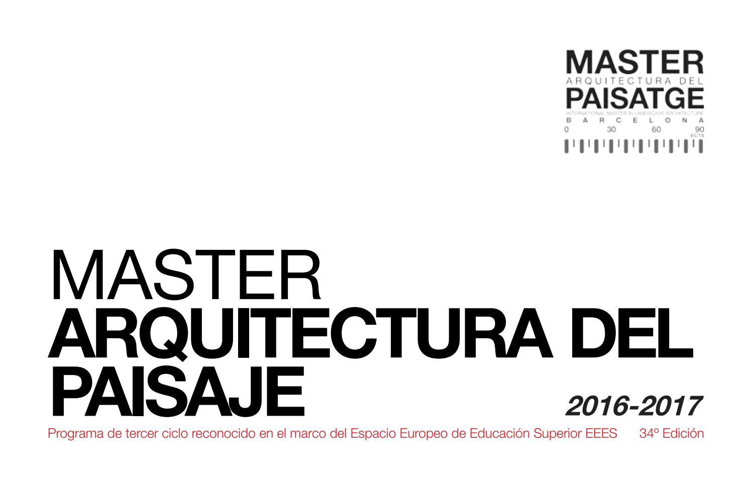 Calendario Etsa Upv.Master Arquitectura Del Paisaje By Master Paisatge Issuu