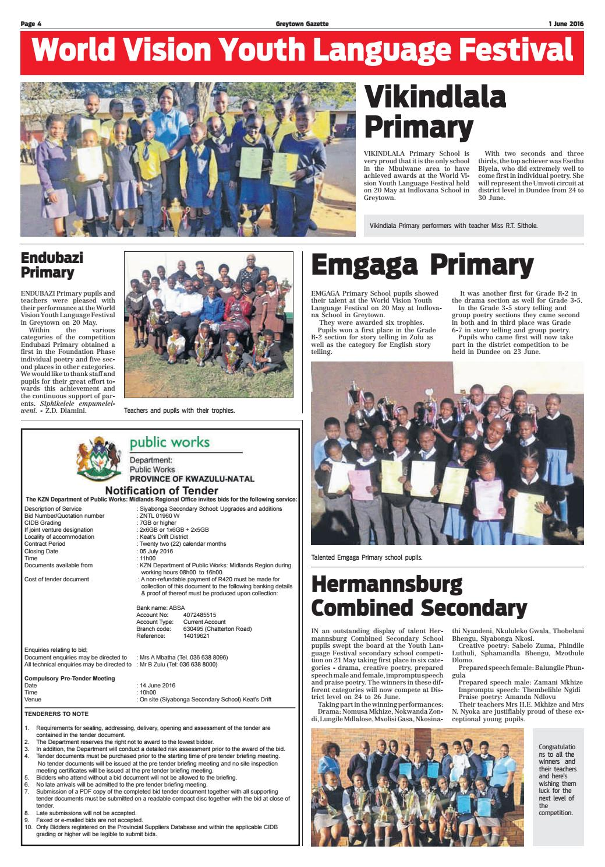 Greytown gazette 01 06 16 by KZN Local News - issuu