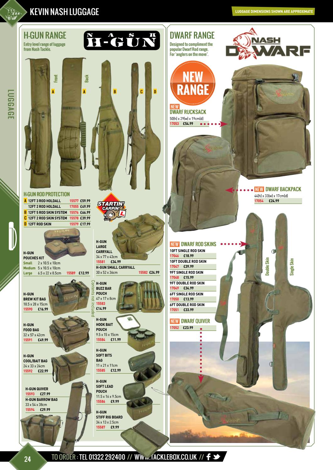 Nash Tackle Dwarf Luggage Range