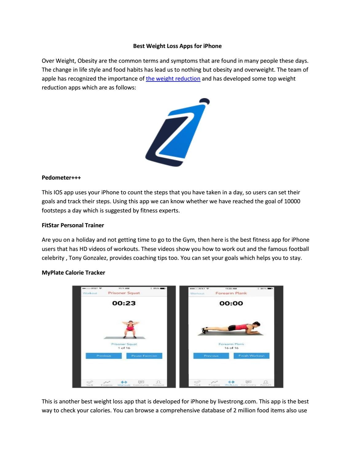 Best Weight Loss Apps for iPhone by iPhoneoz - issuu