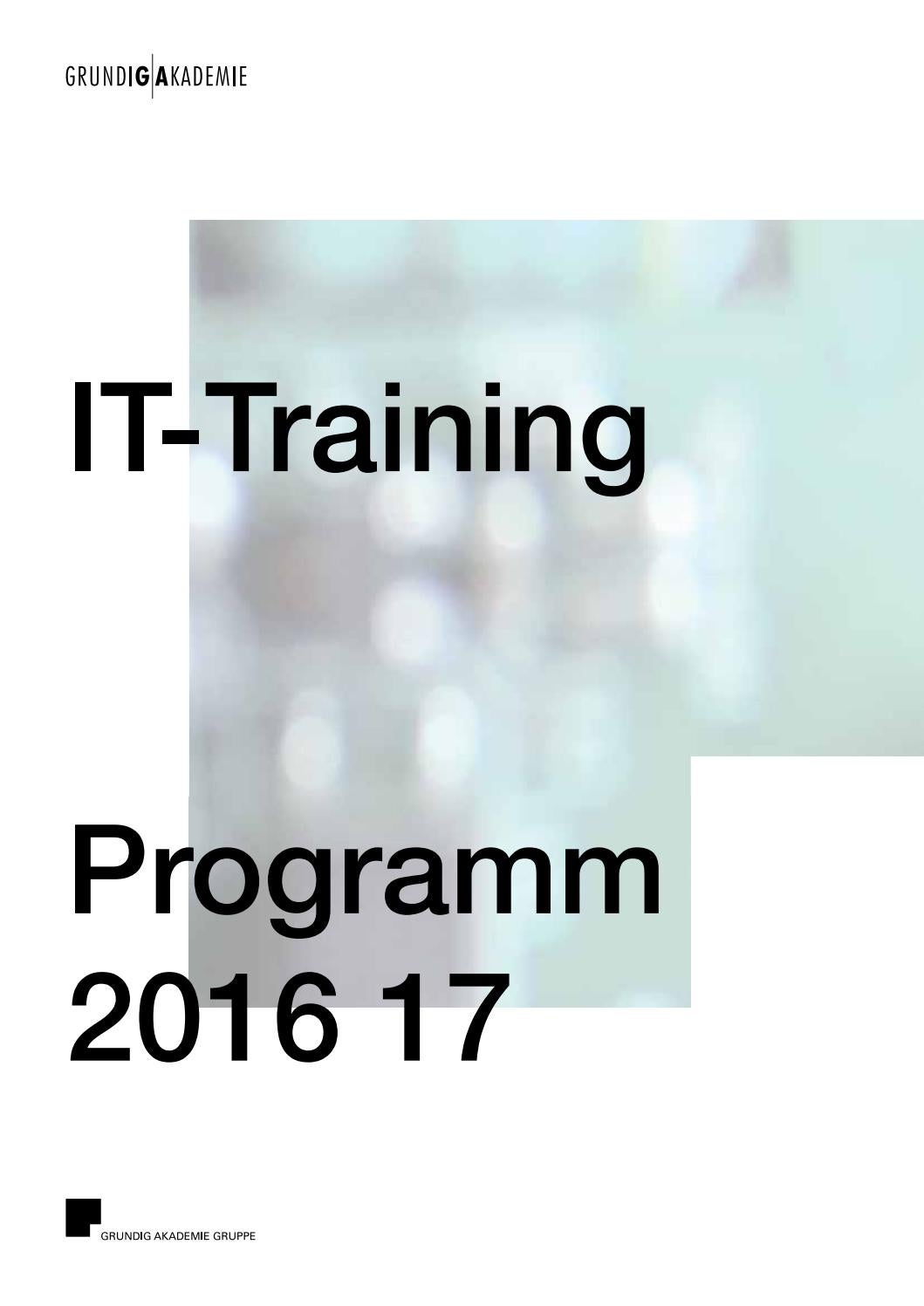 GRUNDIG AKADEMIE IT-Training by GRUNDIG AKADEMIE - issuu
