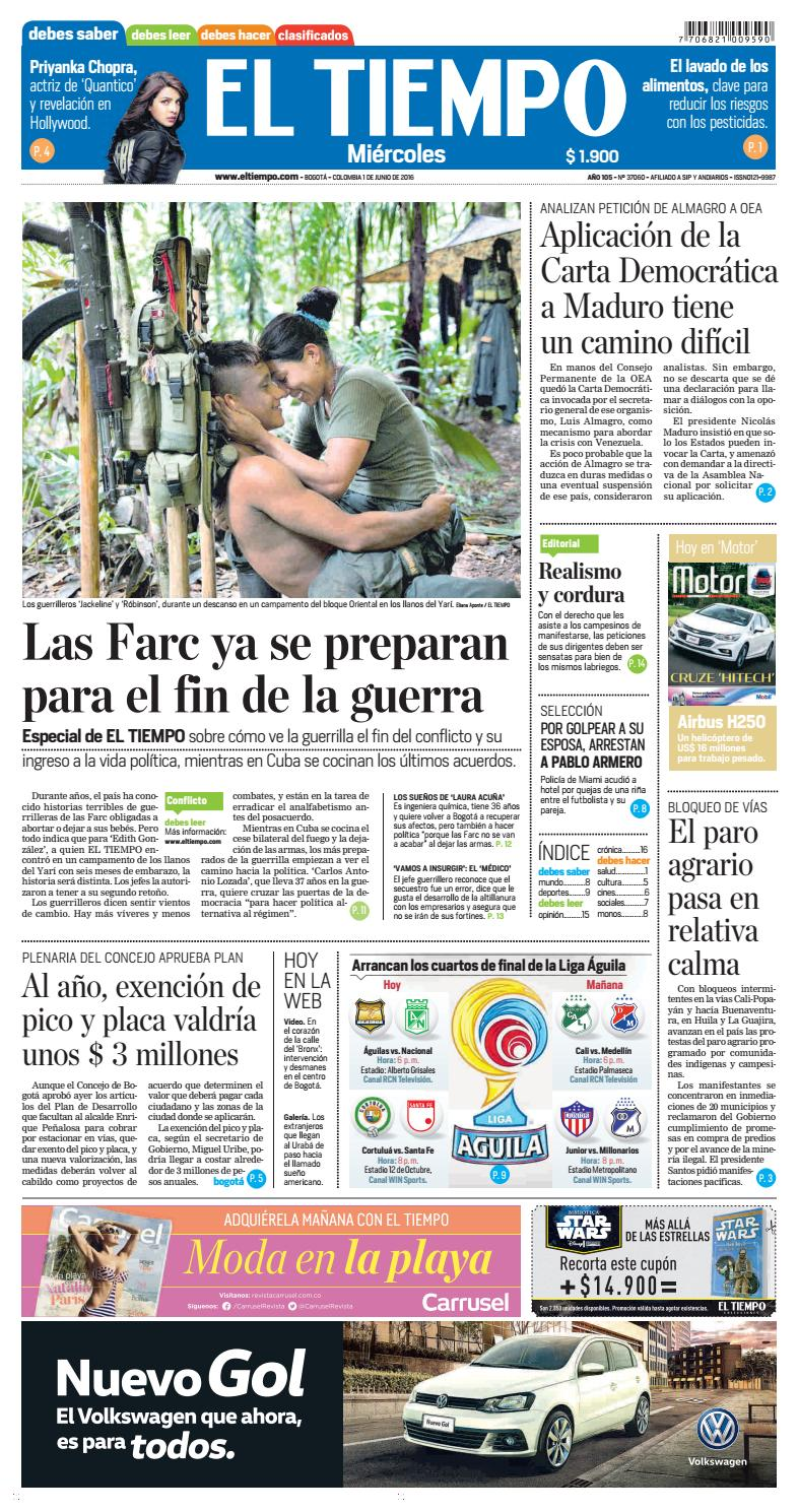 EL TIEMPO 01-06-2016 by Andres A. - issuu 70ae76d64162