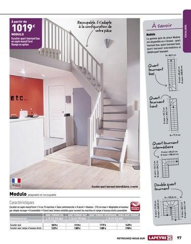 escalier quart tournant milieu lapeyre