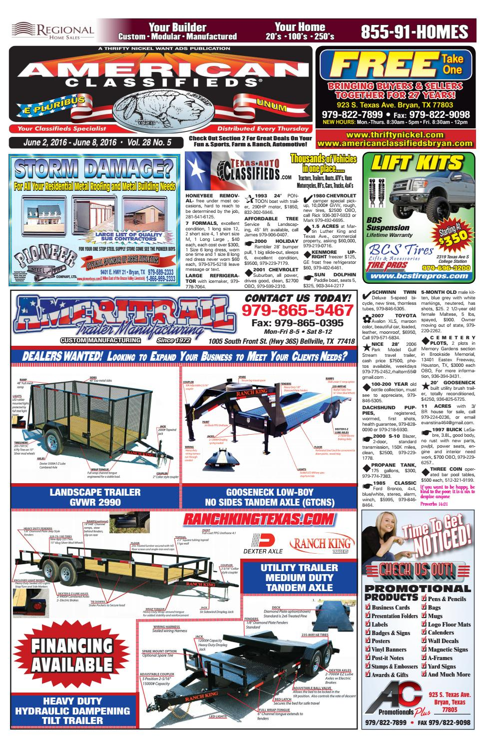 American Classifieds June 2nd Edition Bryan/College Station