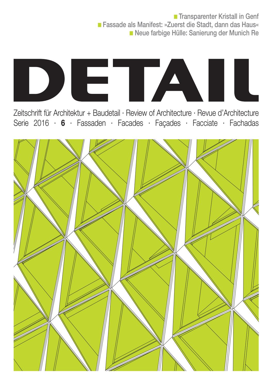 DETAIL 6/2016 - Fassaden by DETAIL - issuu