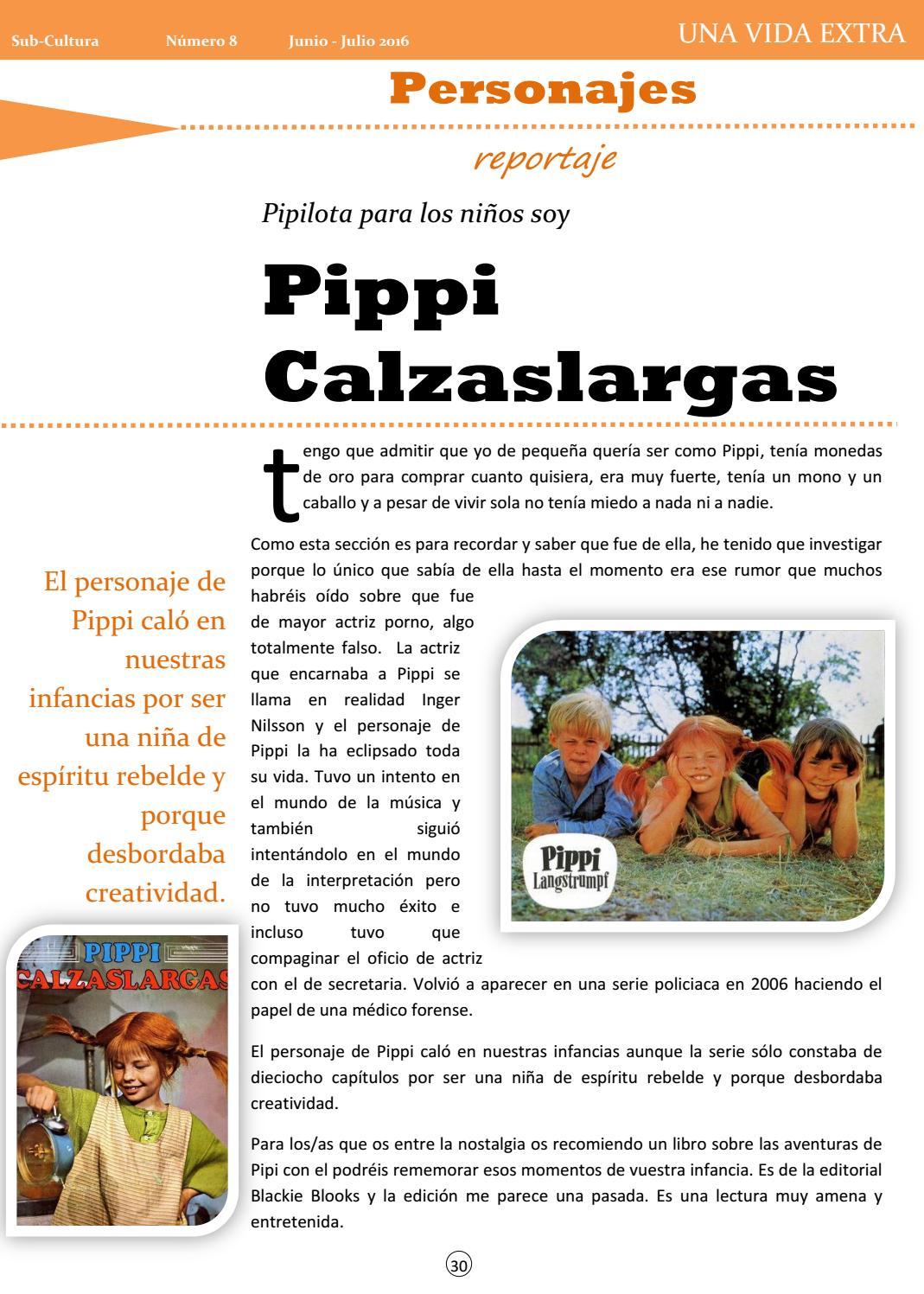 Actriz Pipi Calzaslargas Actriz Porno sub-cultura fanzine - número 8 - junio/julio 2016