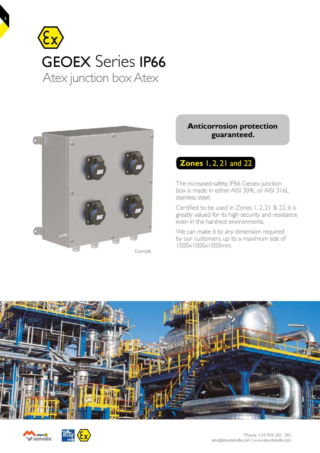 Geoex Series ATEX junction box Delvalle Atex v 1 1-16 by