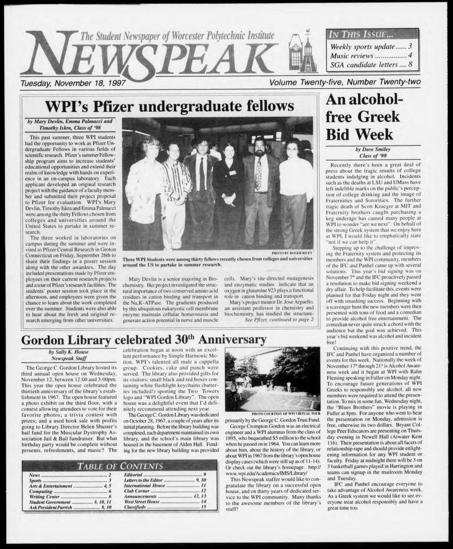 1997 V25 I22 By Wpi Archives Issuu