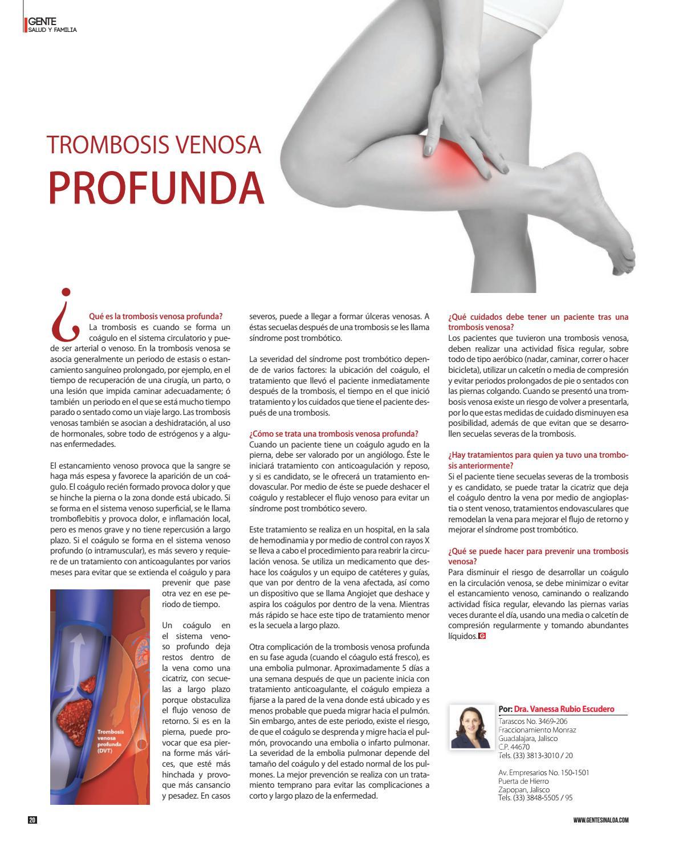 De la para venosa medicamento pierna trombosis la