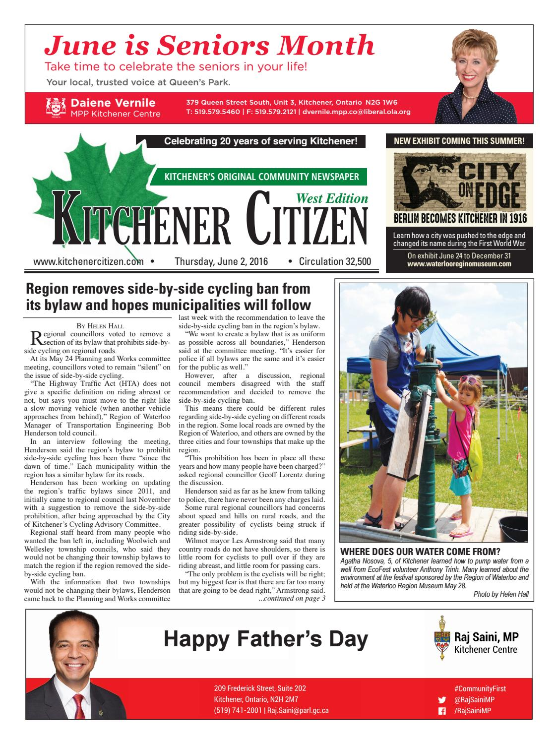 Kitchener Citizen - West Edition - June 2016 by Kitchener Citizen ...