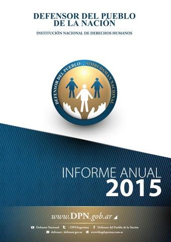 9711848e3599a Defensor del Pueblo de la Nación - Informe Anual 2015 by Defensor ...