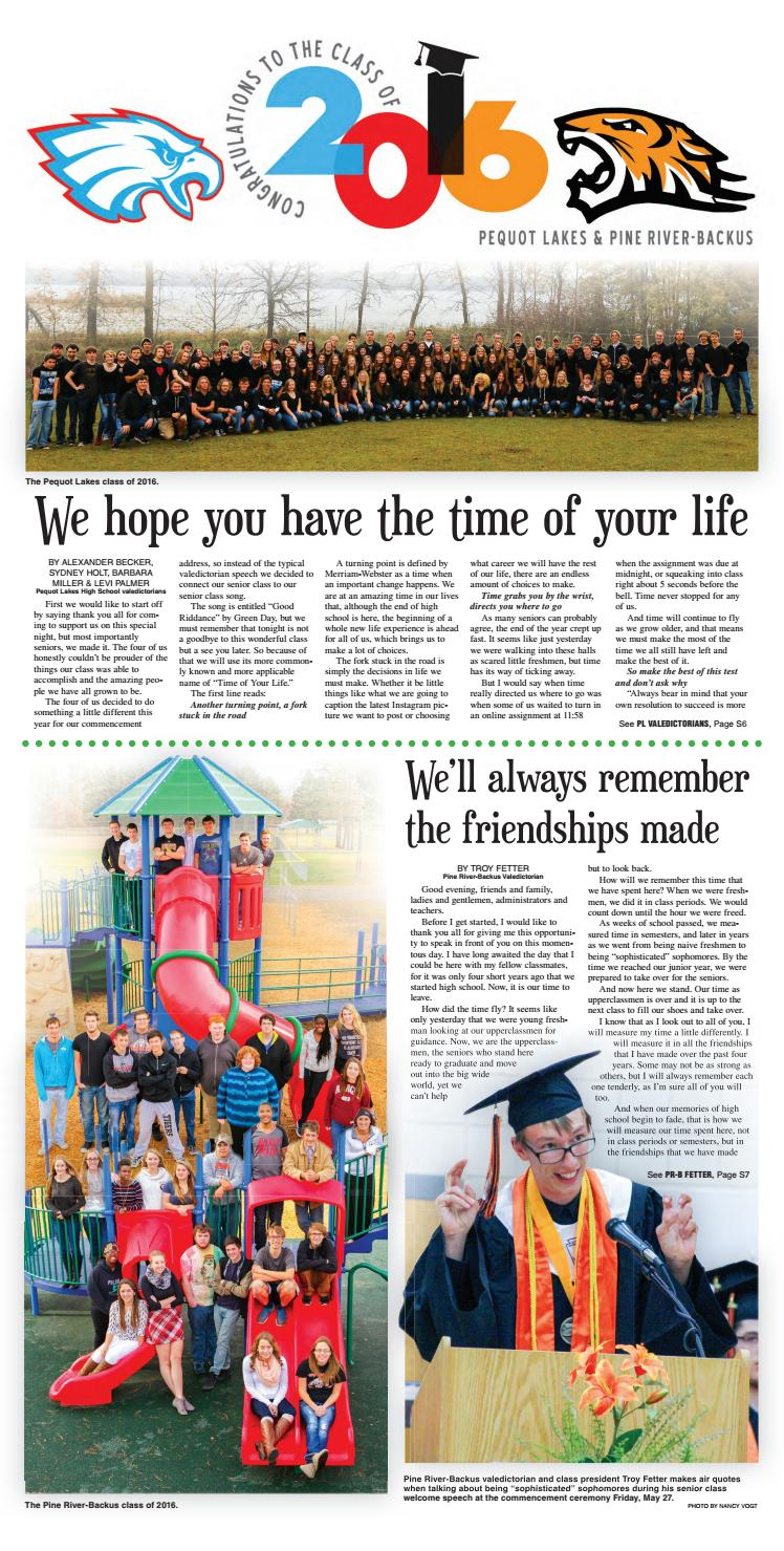 Pequot Lakes and Pine River-Backus Grads by Brainerd ...