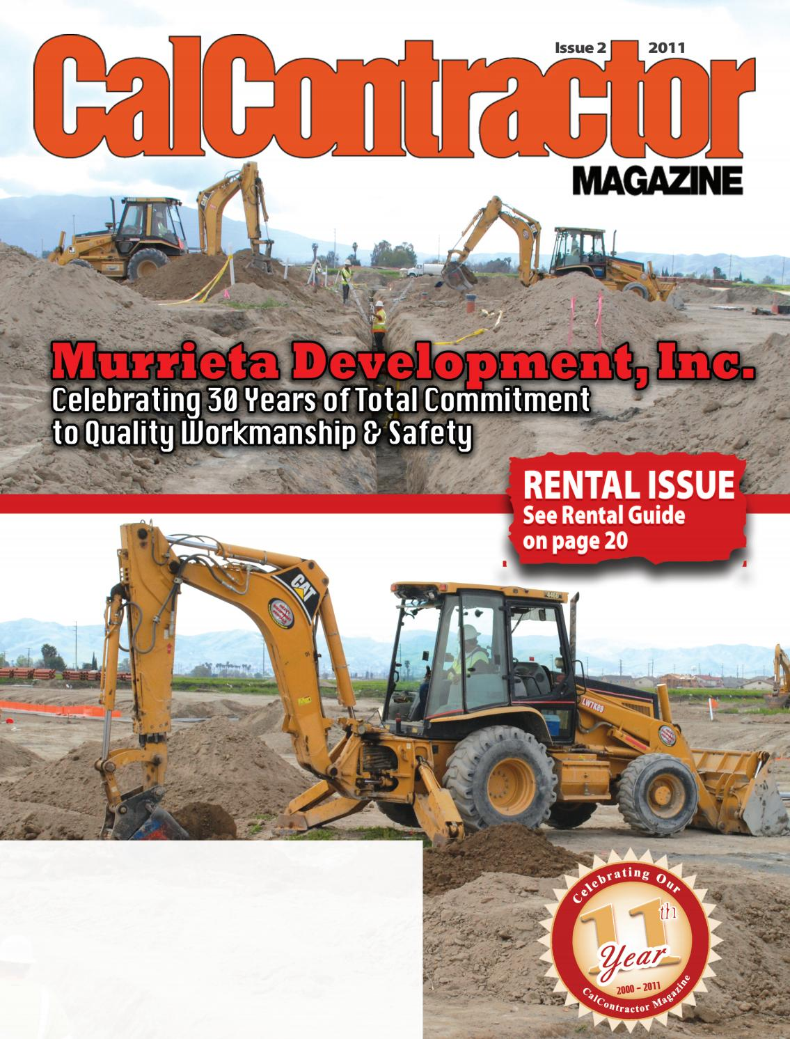 calcontractor rental issue 2011 by cms issuu
