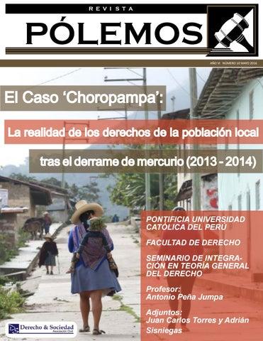 EL CASO  CHOROPAMPA   LA REALIDAD DE LOS DERECHOS DE LA POBLACIÓN LOCAL TRAS  EL DERRAME DE MERCURIO 4726a06016f1b