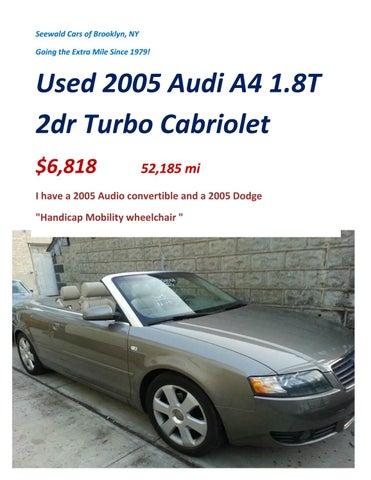 used 2005 audi a4 1 8t 2dr turbo by stanley seewald issuu rh issuu com Audi A6 Audi S4