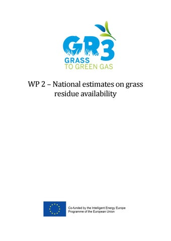 National Estimates On Grass Residue Availability By Biogas E Issuu