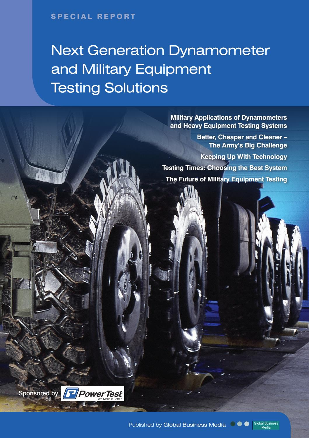 Defence Industry Reports Next Generation Dynamometer