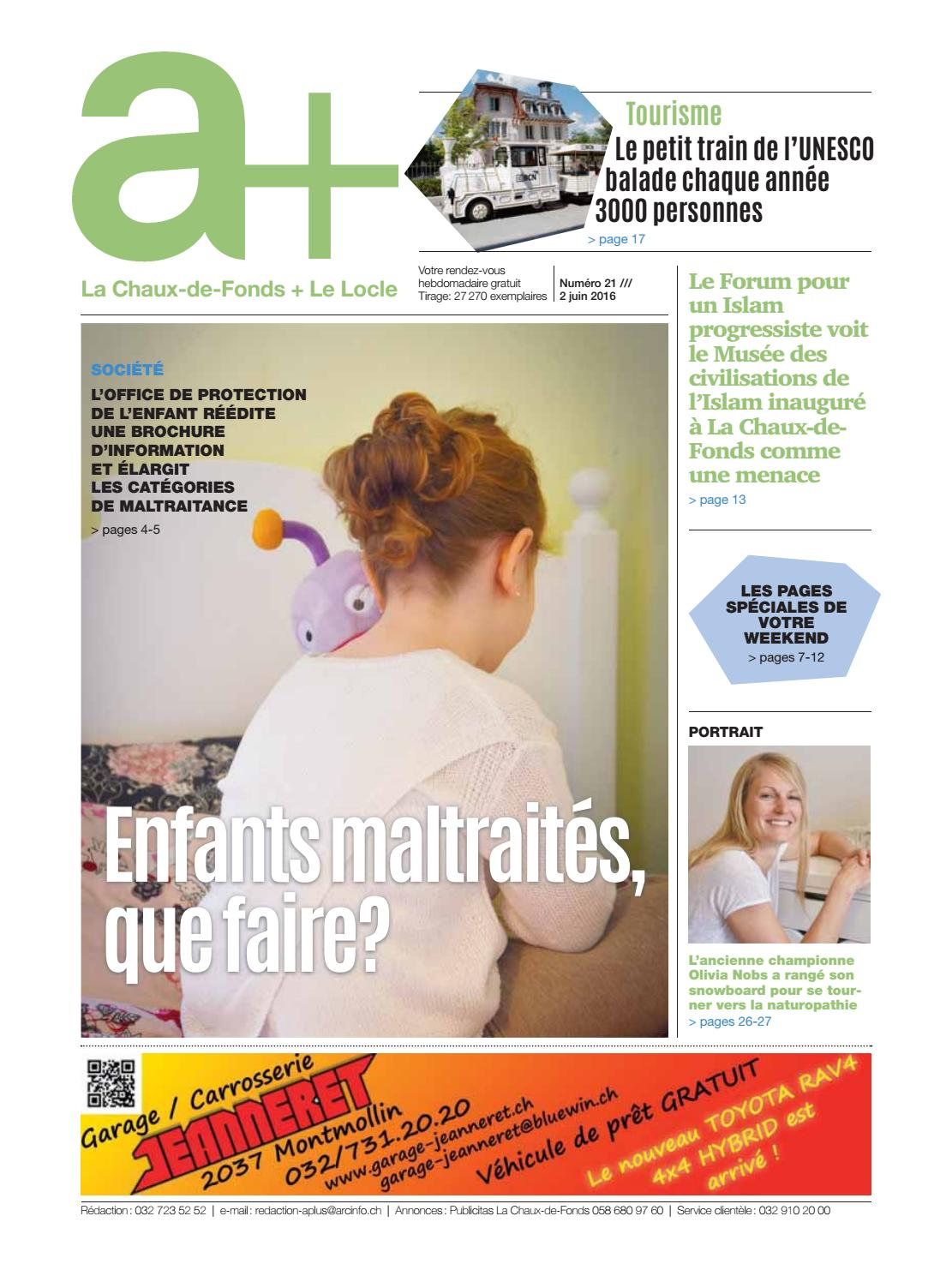 A+ La Chaux-de-Fonds + Le Locle - Edition du 2 juin 2016 by ...