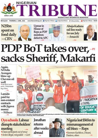 2nd June 2016 By Nigerian Tribune Issuu