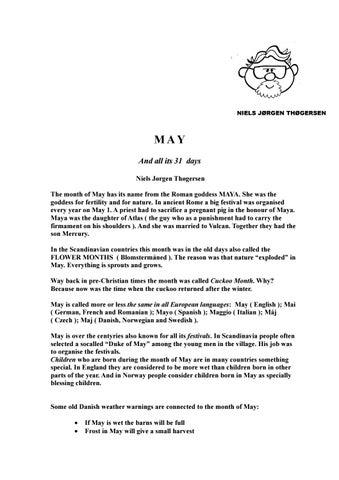 MAY AND ALL ITS 31 DAYS by Niels Jorgen Thogersen - issuu