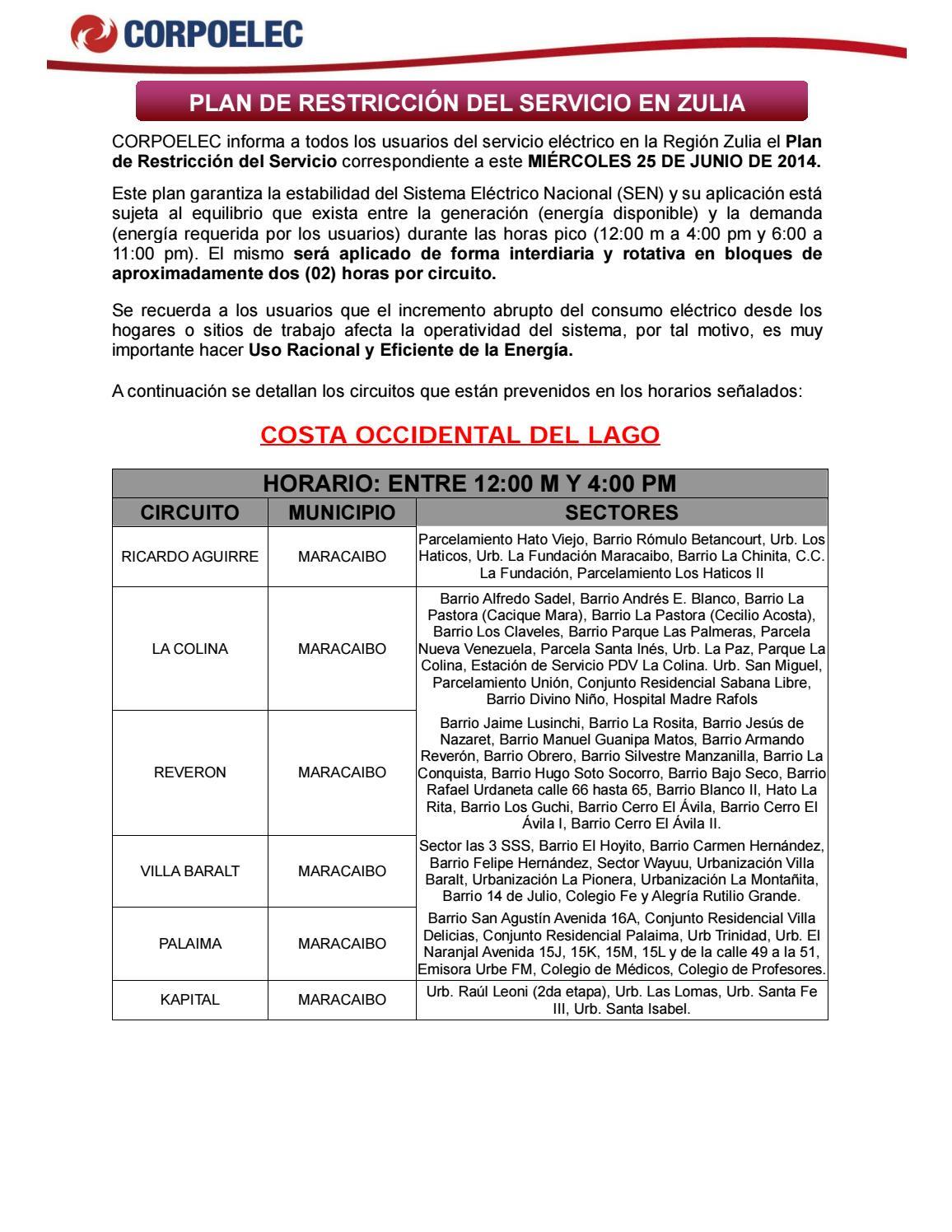 Plan De Administraci C3 B3n De Carga Vigente Desde El 6 De Junio  # Muebles Lalin Naguanagua