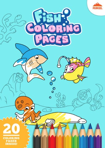 Fish Coloring Pages PDF By Marko Petkovic