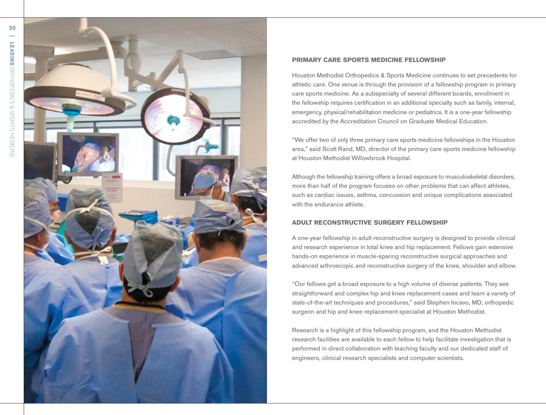 Houston Methodist - Ortho Annual Report 2014-15 by Houston