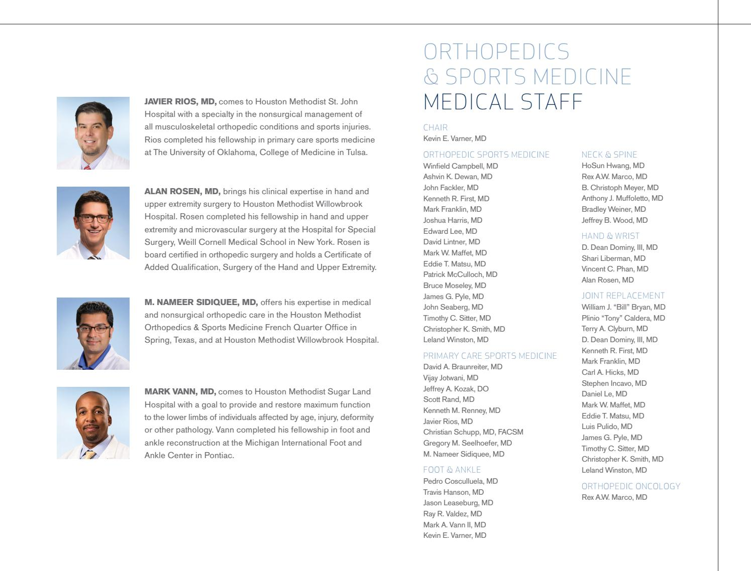 Houston Methodist - Ortho Annual Report 2014-15 by Houston