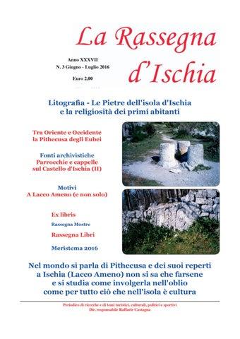 La Rassegna d Ischia n. 3 2016 by Raffaele Castagna - issuu 26da2ede323