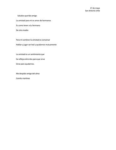 Carta Para Mi Mejor Amigo By Camillo Martinez Issuu