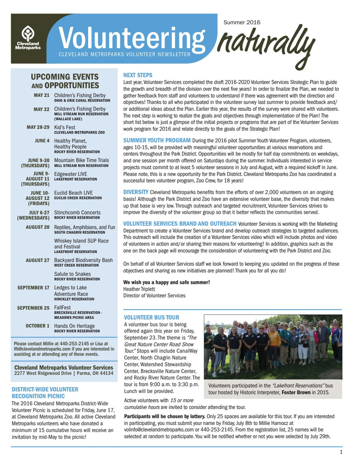 volunteering naturally summer 2016 by cleveland metroparks issuu