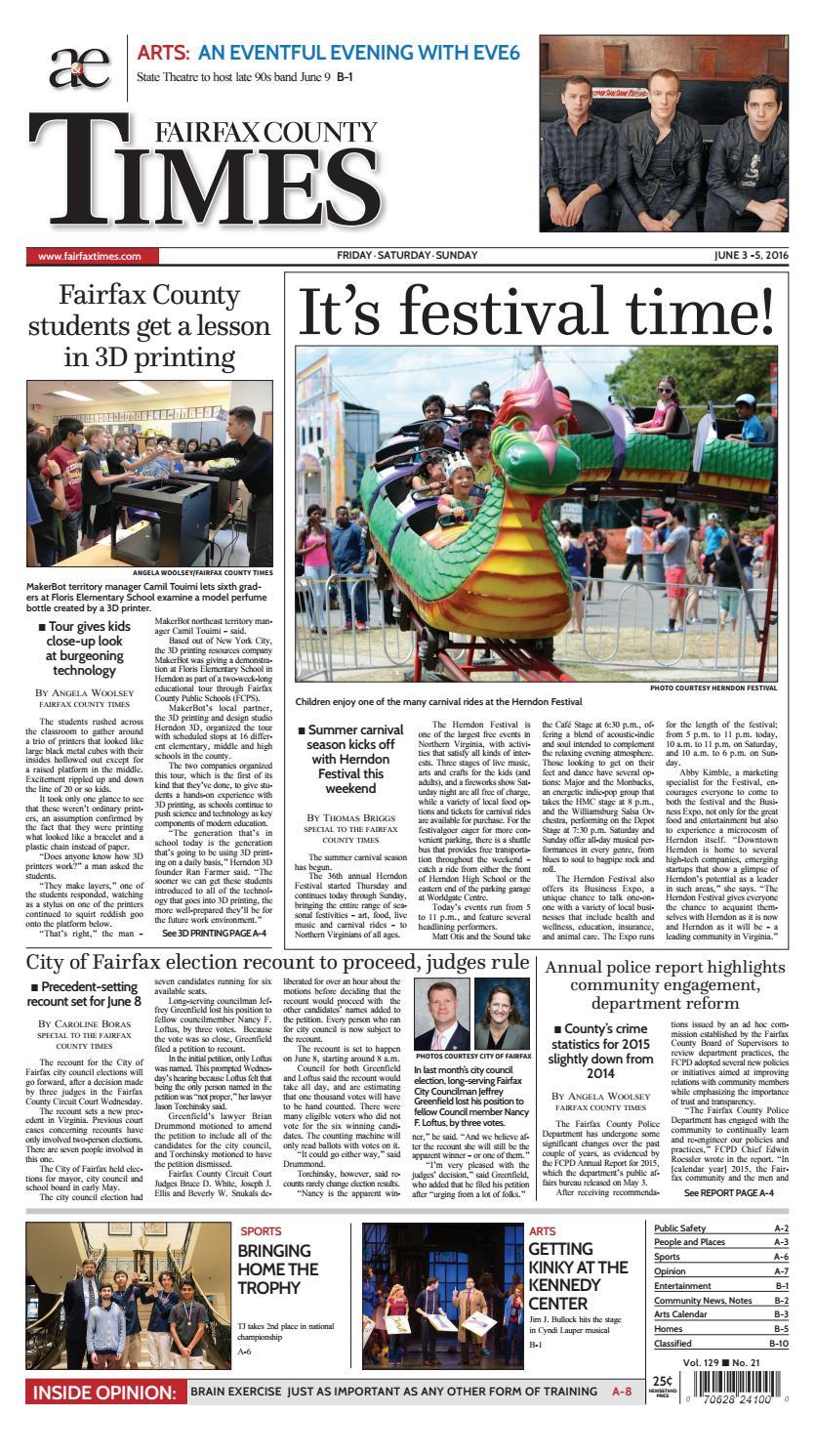 Fairfax County Times 06/03/16 by The Fairfax Times - Issuu