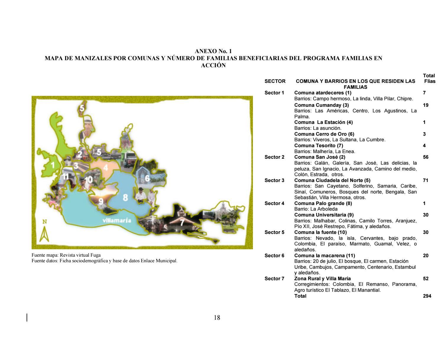 mapa de las comunas de manizales