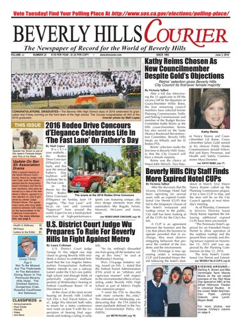 BHCourier E-edition 060316 by The Beverly Hills Courier - issuu